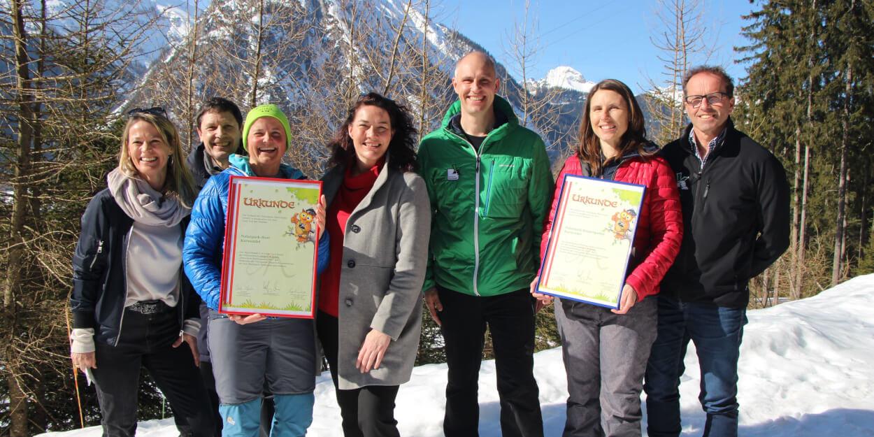 Urkundenüberreichung Naturpark-Kindergarten und -Hort in Maurach am 27. Februar 2019