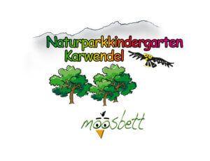 Logo des Naturparkkindergartens Karwendel Moosbett in Maurach am Achensee