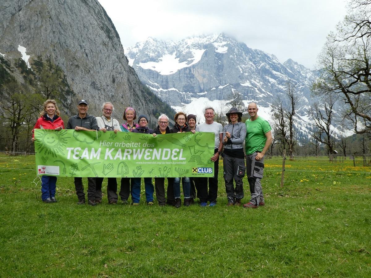 Gruppenfoto Team Karwendel