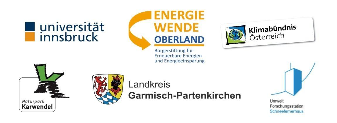 Logos der Projektpartner vom Interreg Projekt KlimaAlps