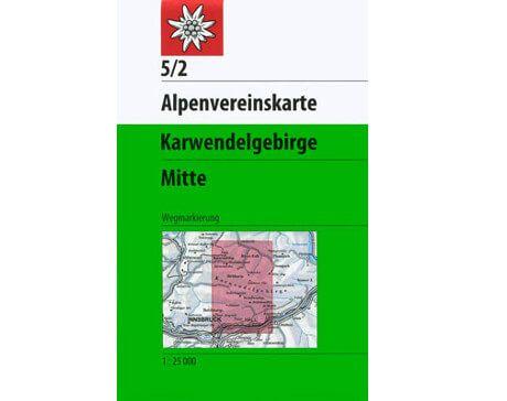 Alpenvereinskarte Karwendelgebirge Mitte 5/2