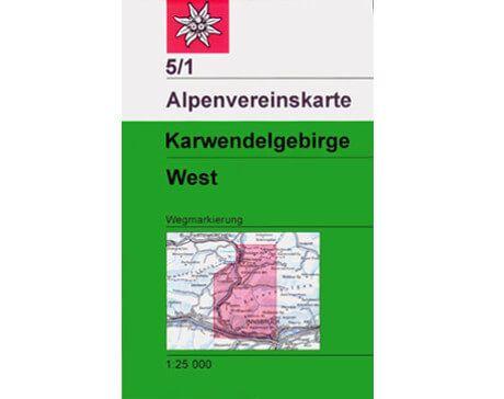 Alpenvereinskarte Karwendelgebirge West 5/1