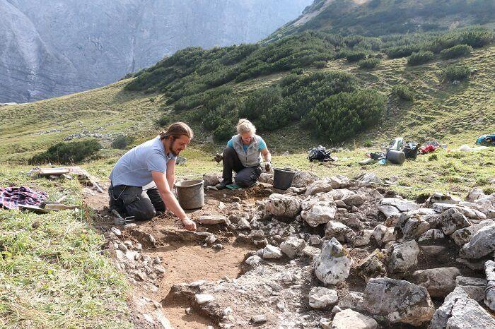 Ausgrabungen im Karwendel