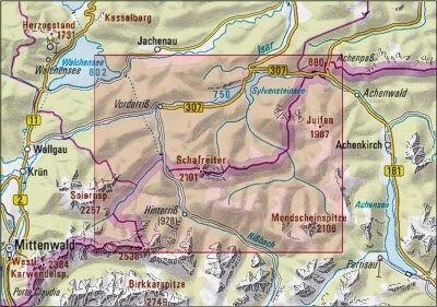 Alpenvereinskarte Bayerische Alpen – Karwendelgebirge Nord – Schafreiter BY12