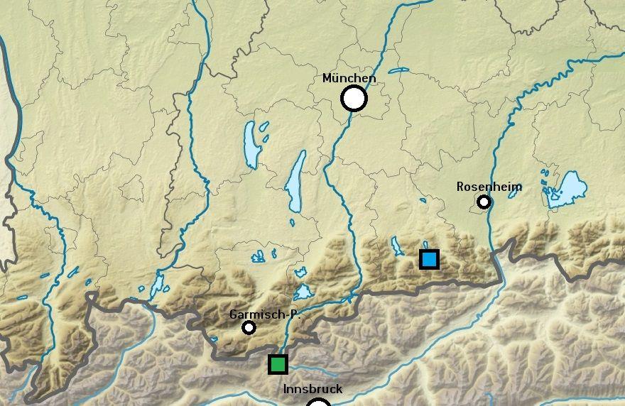 Karte des Voralpenlandes