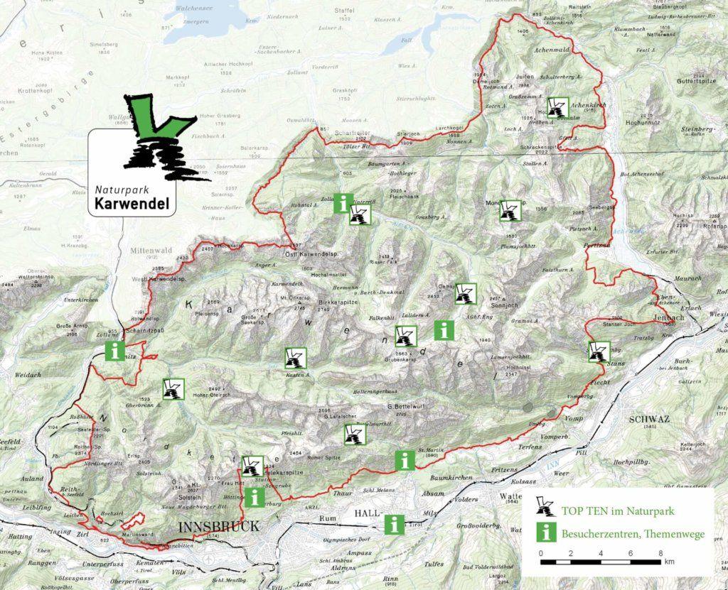 Karwendelgebirge Karte