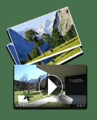 icon bilder und videos