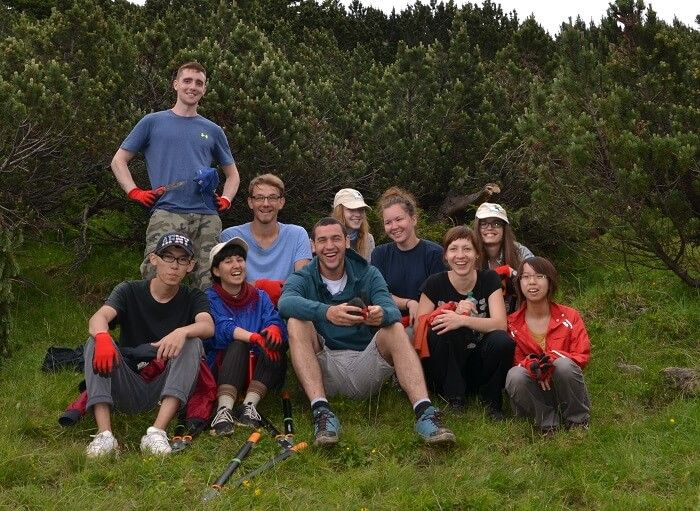 internationels workcamp 2014 im naturpark 2