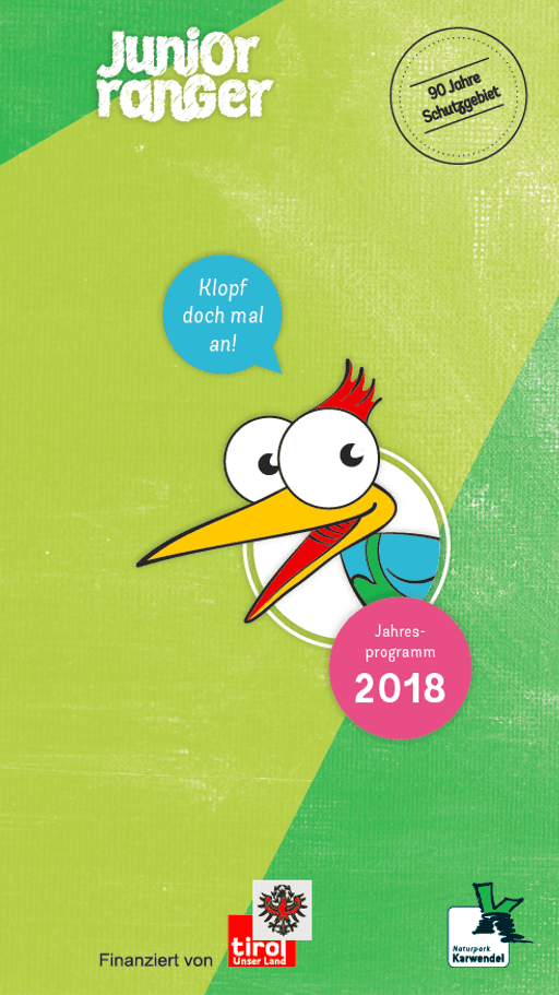 Cover zum Junior Ranger Programm 2018