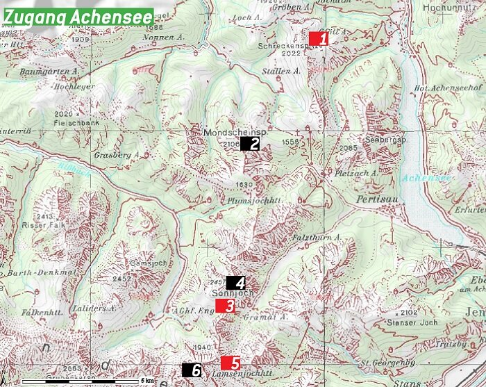 Karte Zugang Achensee