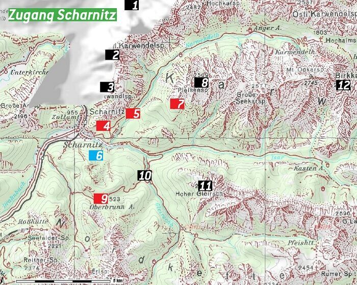 Karte Zugang Scharnitz