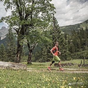 Läufer beim Karwendelmarsch