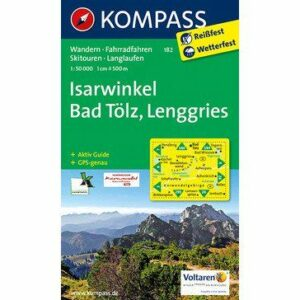 Kompass Wanderkarte Isarwinkel – Bad Tölz – Lenggries (reiß- und wetterfest)