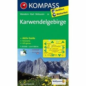 Kompass Wanderkarte Karwendelgebirge (reiß- und wetterfest)