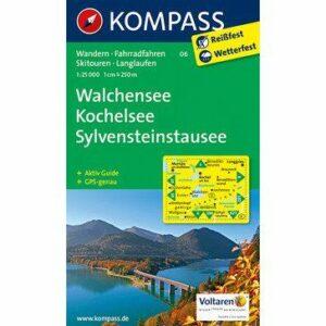 Kompass Wanderkarte Walchensee – Kochelsee – Sylvensteinsee (reiß- und wetterfest)