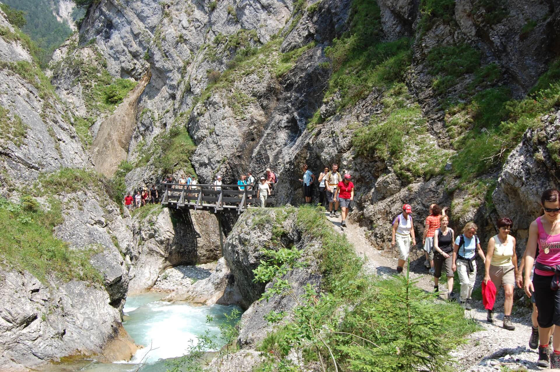Lehrer bei Fortbildung im Naturpark Karwendel