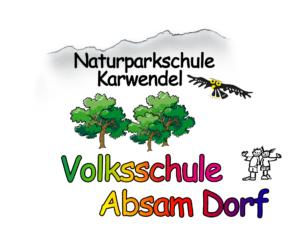Logo der Naturparkschule Karwendel Volksschule Absam Dorf