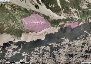 luftbild vom naturwaldreservat vomper loch