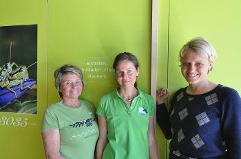 Mitarbeiter des Naturparkhauses (Ursula Schreiner, Micha Sir, Barbara Baumgartner)