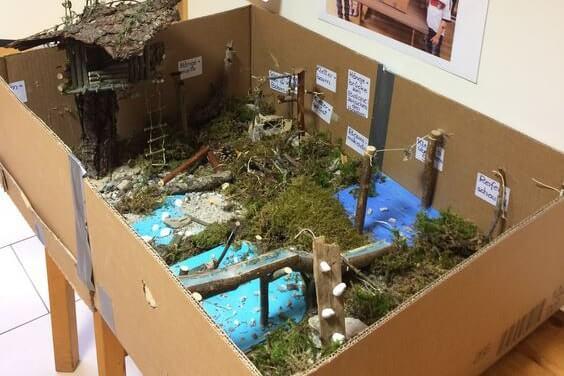 Model des geplanten Spielplatzes in Scharnitz