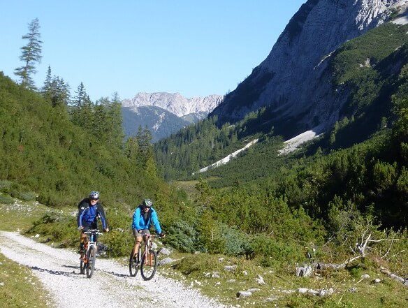 Mountainbiker im Hinterautal