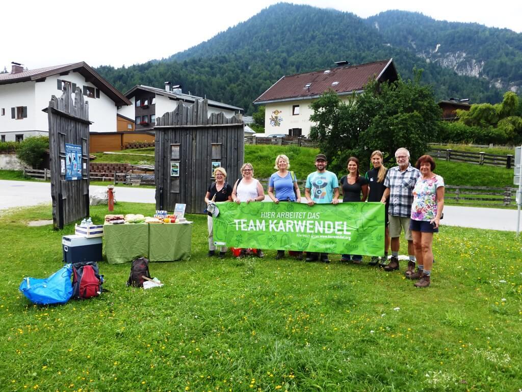Team Karwendel bei der Müllsammelaktion an der oberen Isar 2017