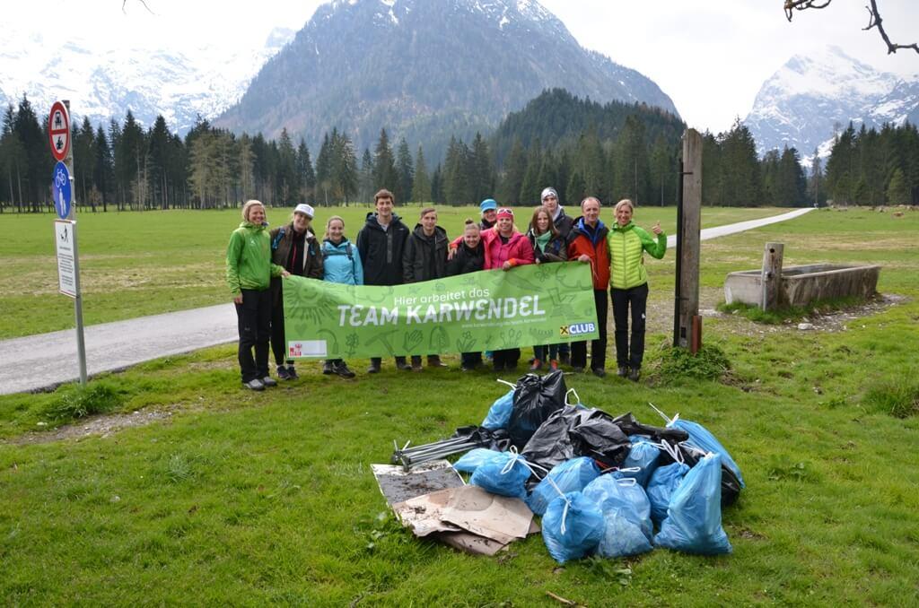 Müllsammelaktion in den Karwendeltälern