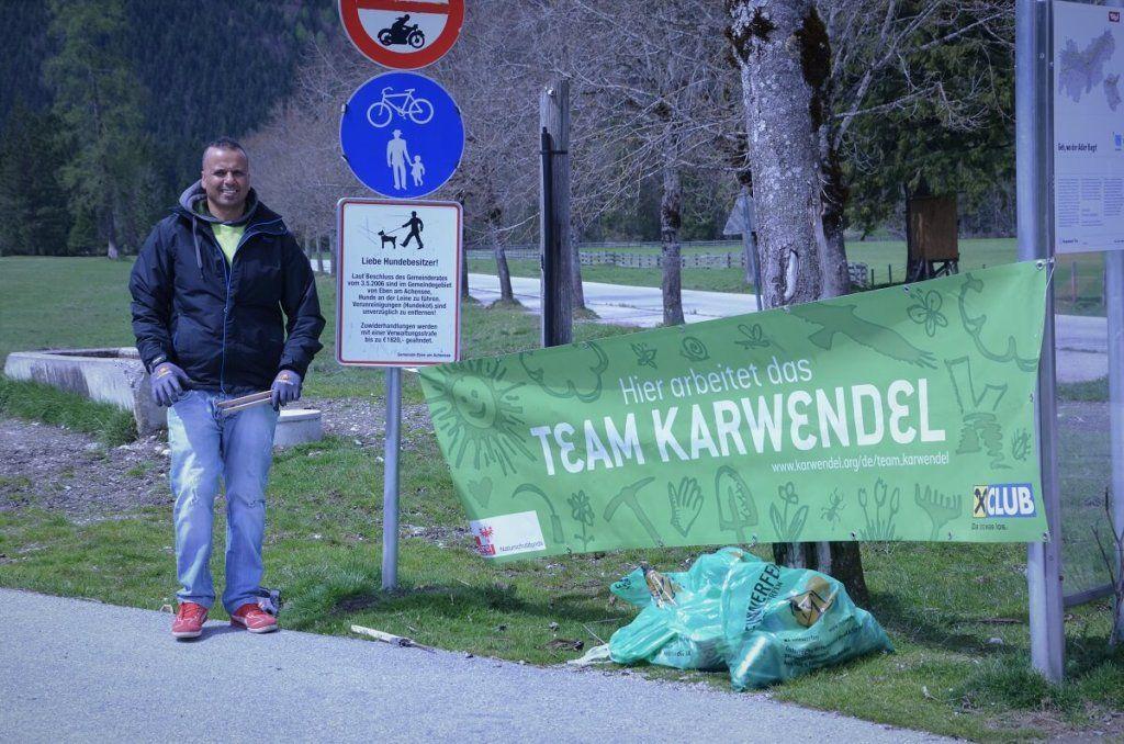 Müll sammeln in den Karwendeltälern am Achensee