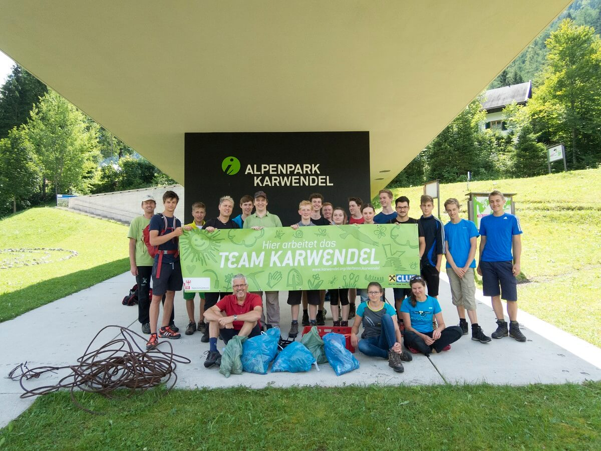 Müllsammelaktion mit dem Gymnasium Bad Tölz 2016
