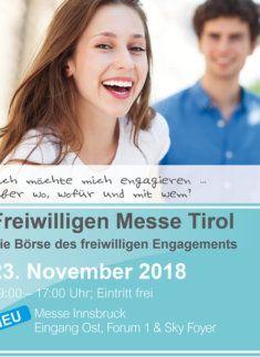 Plakat Freiwilligen Messe Tirol - Die Börse des freiwilligen Engagements - 2018