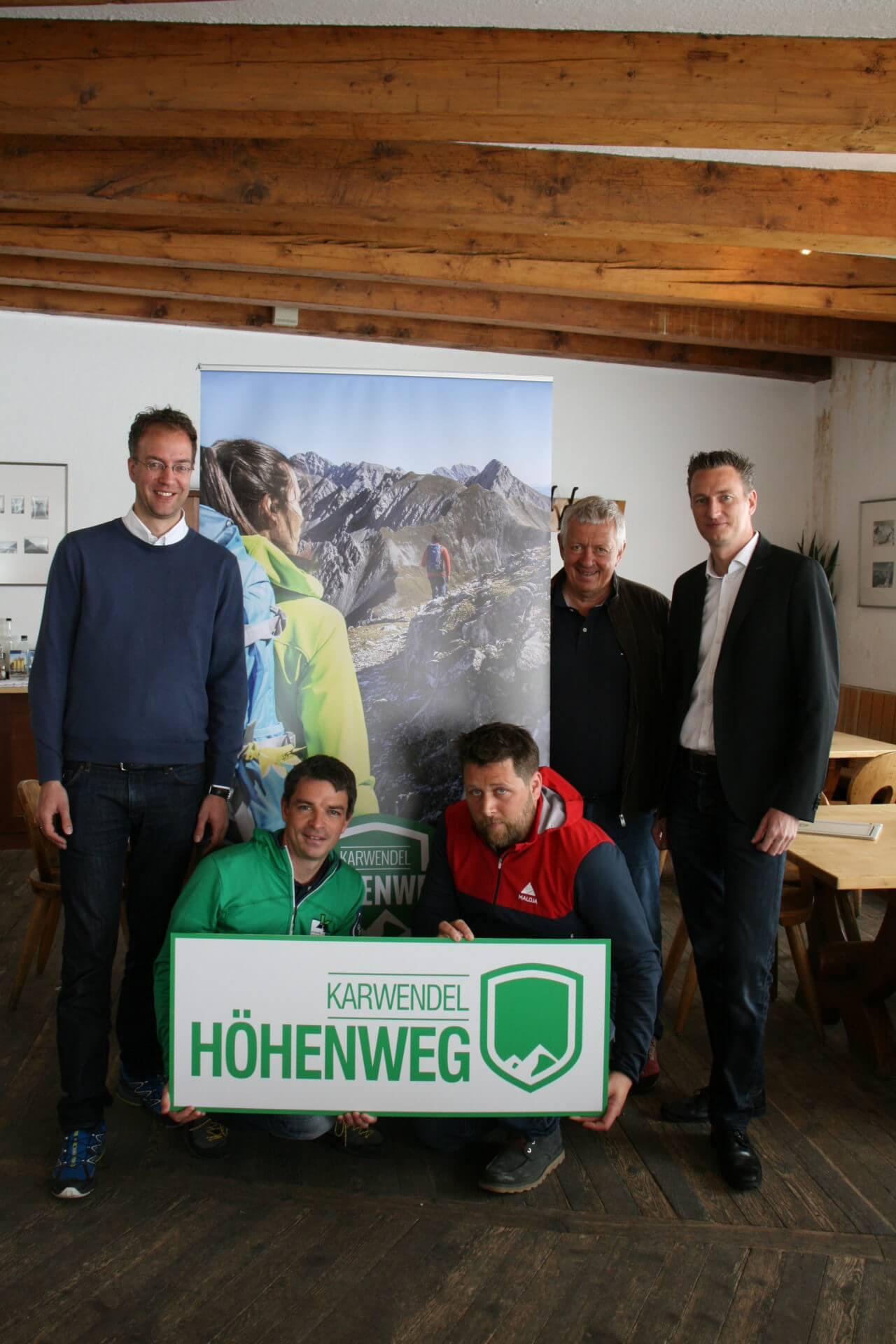 Pressekonferenz zum Karwendel Höhenweg