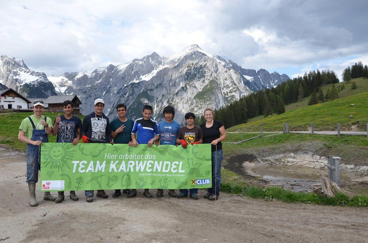 Team Karwendel an den Walderalmteichen 2016