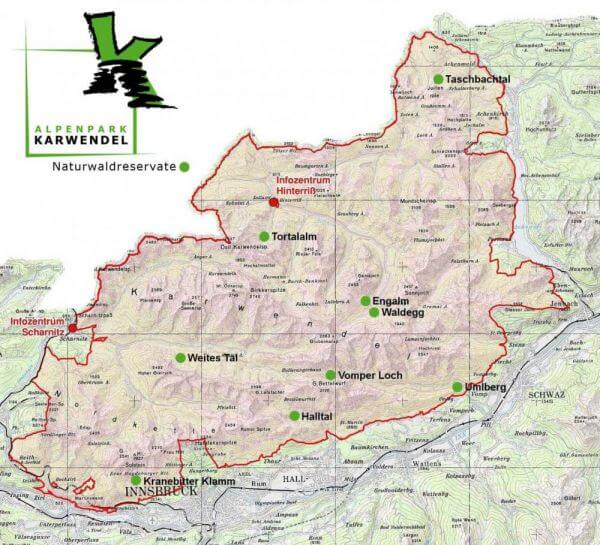 Übersicht Nnaturwaldreservate