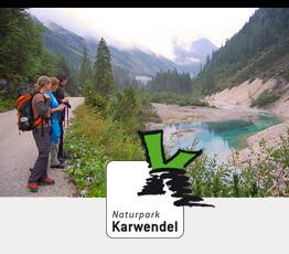Vorschubild Wanderrouten mit Naturparklogo