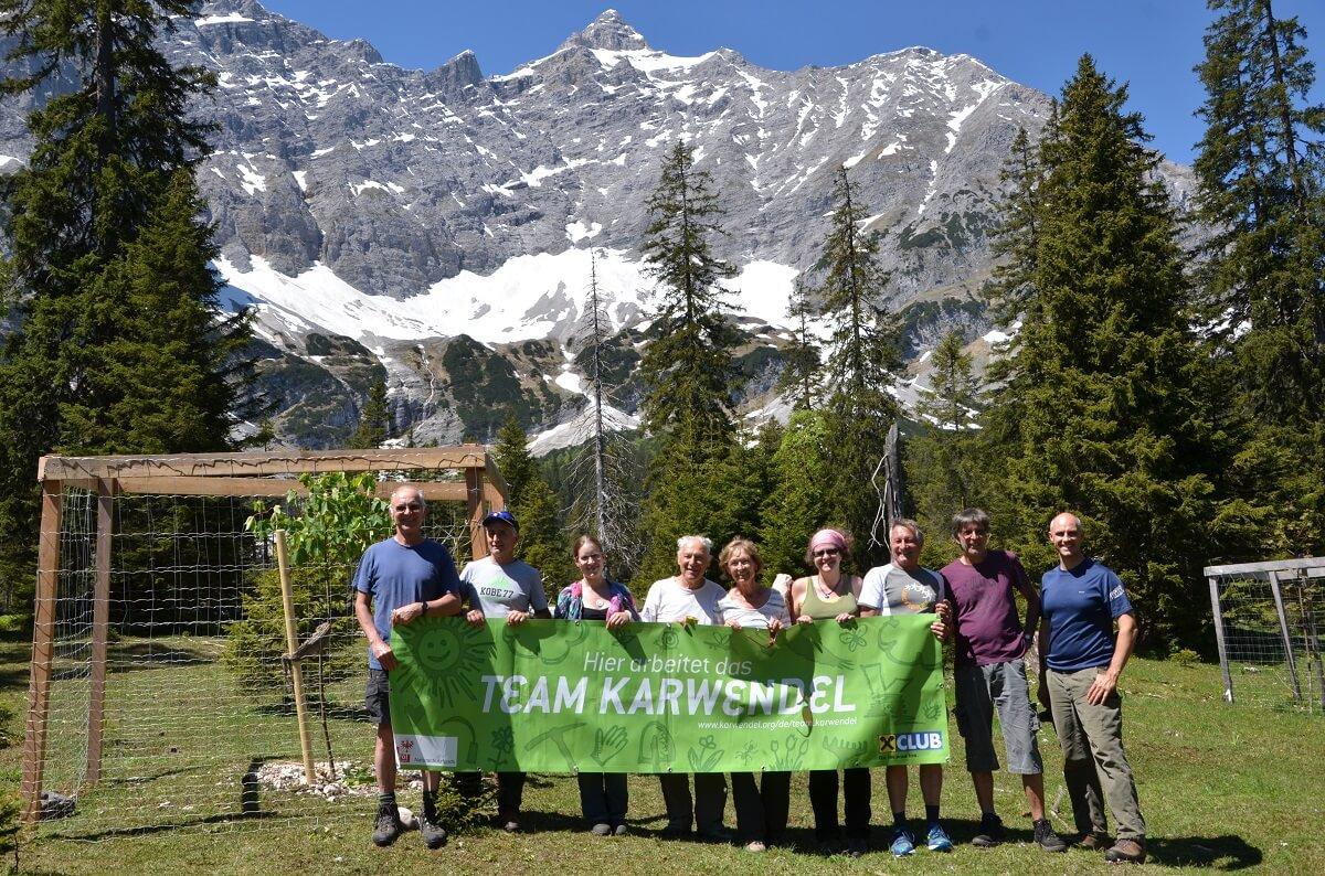 Team Karwendel am Ahornboden 2017